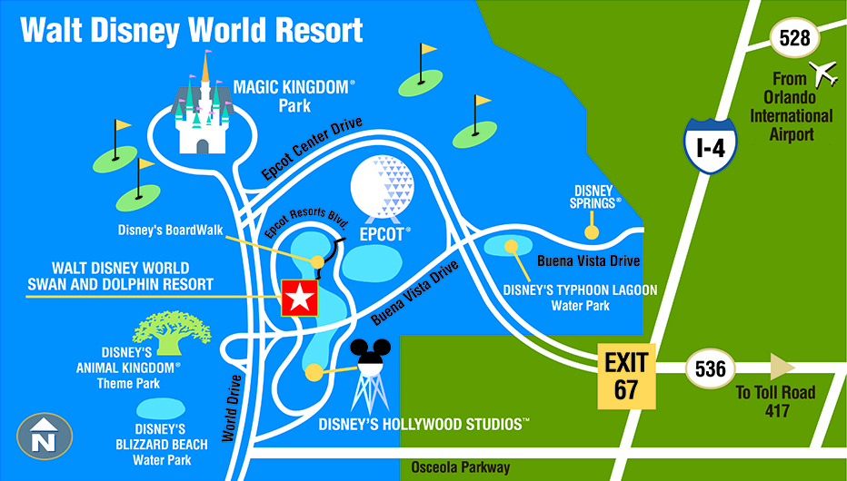 Housing Disneyworld Hotels Map on