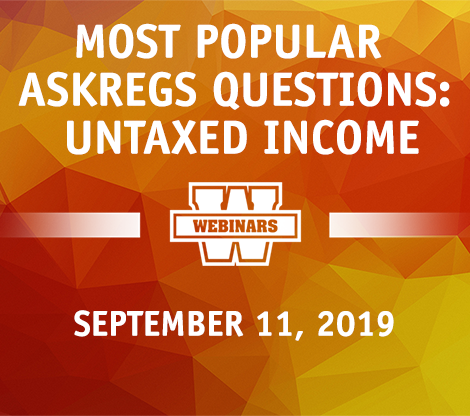 Most Popular AskRegs Questions: Untaxed Income