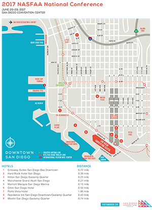 2017 National Conference Hotel Map