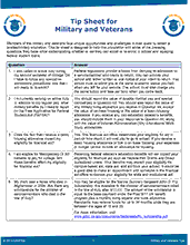 Tips Sheet Military